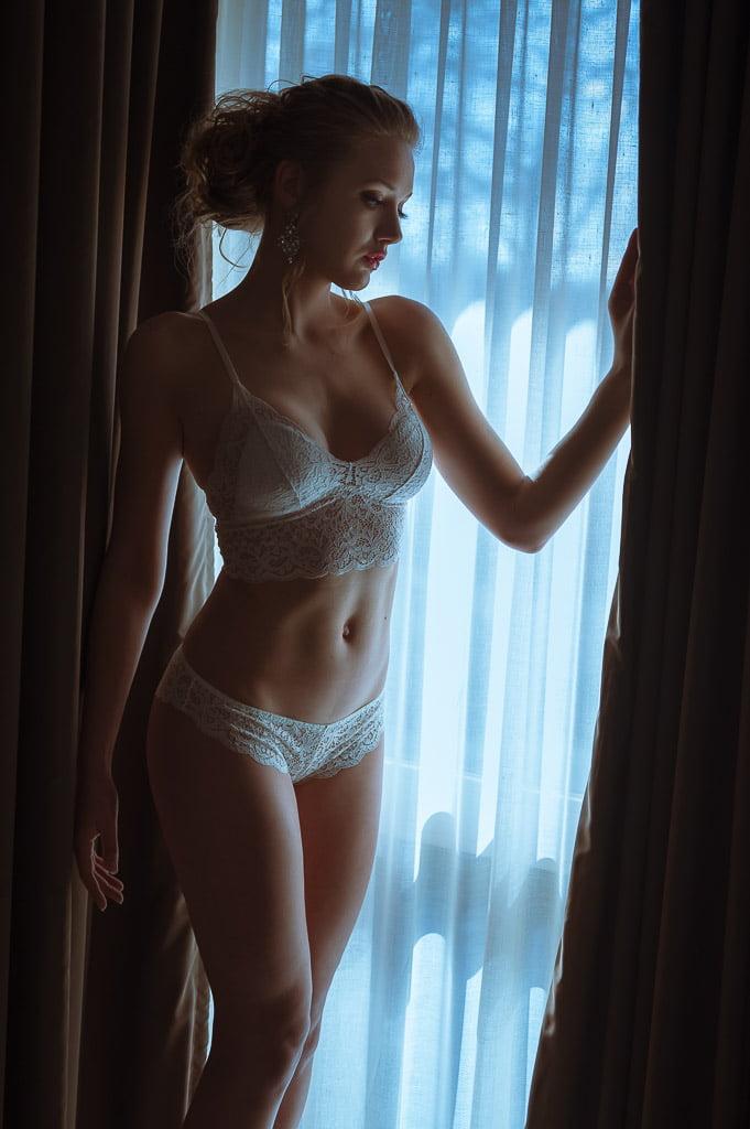 Mooi daglicht tijdens een lingerieshoot